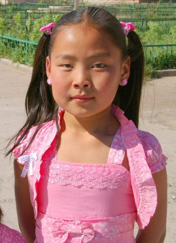 La petite fille en rose