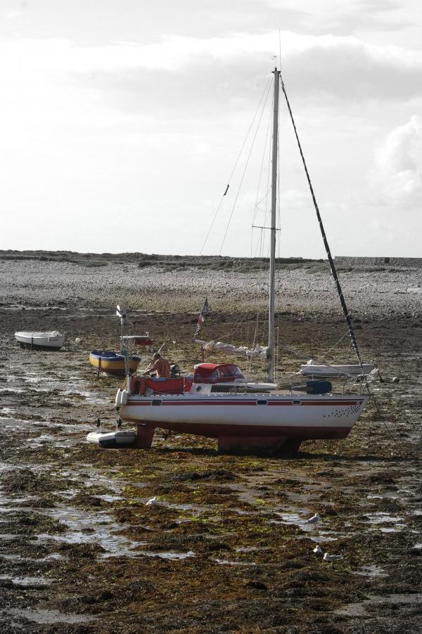 À marée basse sur l'île de Sein