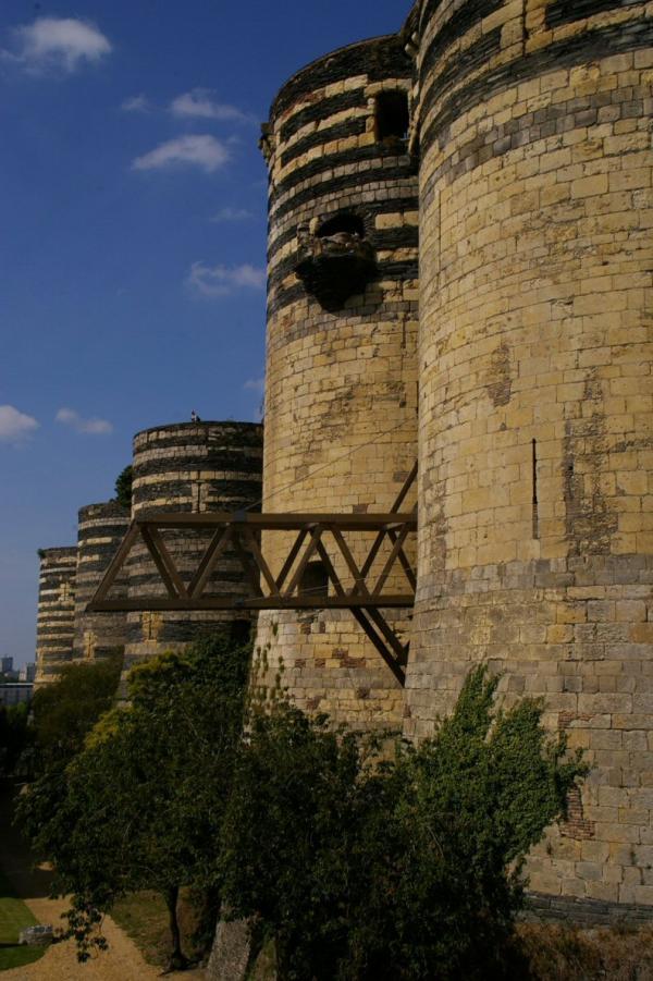 Les tours du château d'Angers