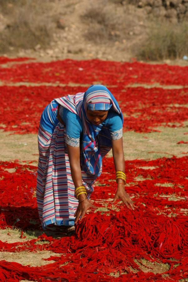 La teinture rouge