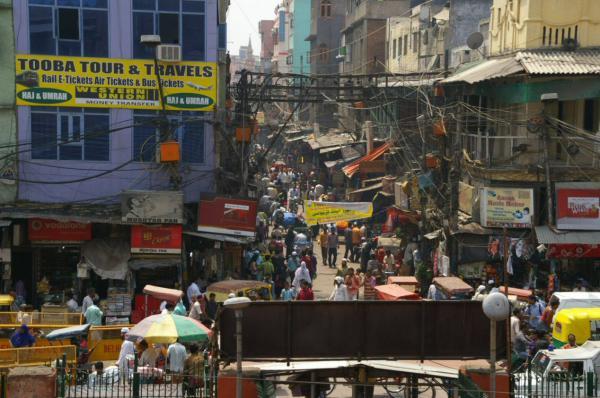 Dans les rues de Delhi