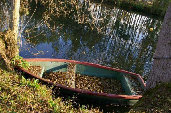 Barque au bord de l'Indre