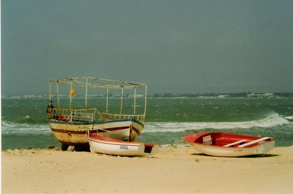 Sur la plage d'Hammamet