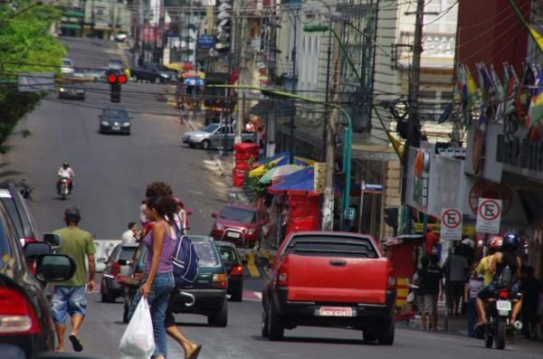 Dans les rues de Manaus