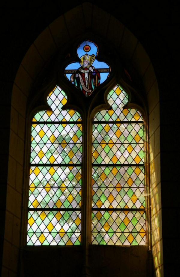Vitrail, église de Crissay-sur-Manse