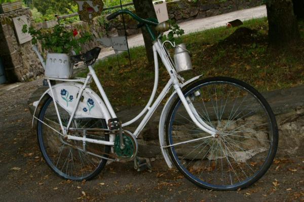 Le vélo blanc
