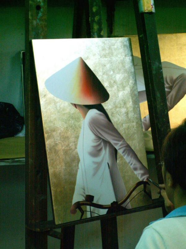 L'artiste devant son chevalet