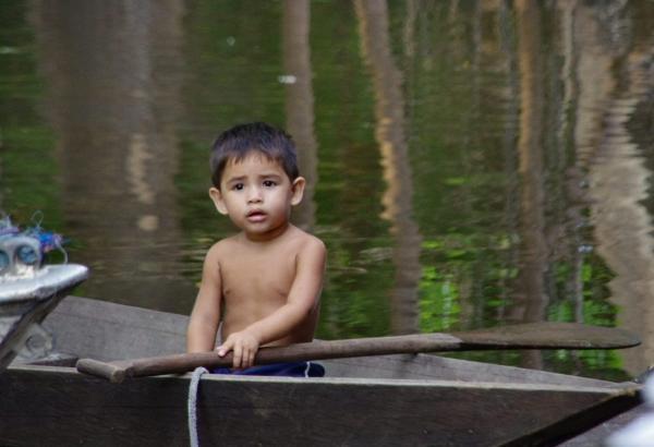 Sur les bords de l'Amazone