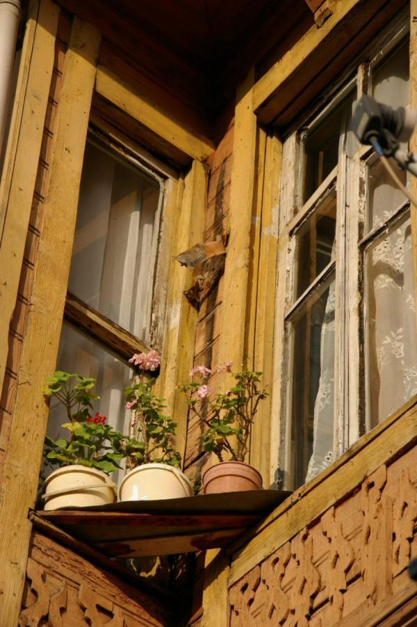 Maison en bois, détail