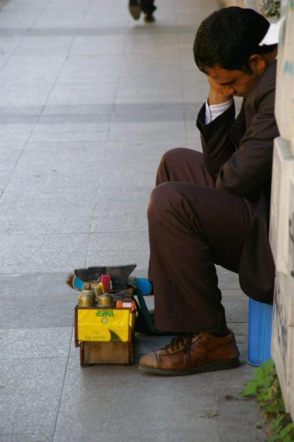Le cireur de chaussures